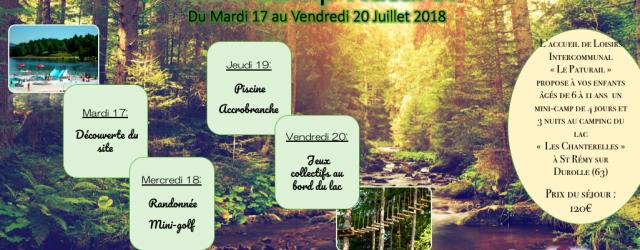 4 jours au camping du Lac à St Rémy sur Durolle ! 4 jours d'activités natures en tout genre : piscine, accrobranche, rando, mini-golf… de quoi passer un bon séjour […]